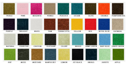 Fiberglass Colour Swatches