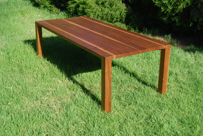 European Walnut Table Outside