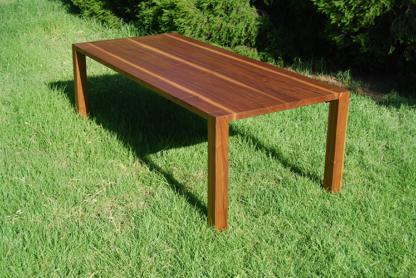 European Walnut Table Outside