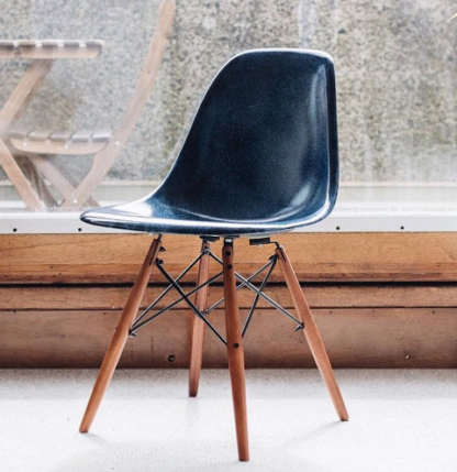 Modernica Dark Blue Dowel Chair