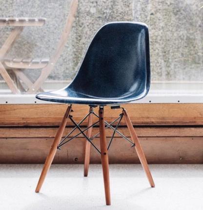 Modernica Dark Blue Dowel Chair