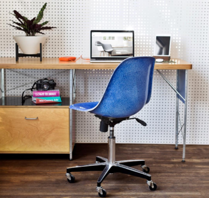 Modernica Side Shell Office Chair Blue