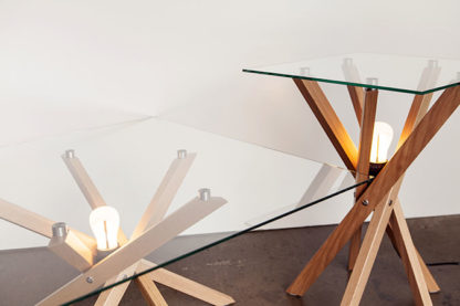 Pende Low + Side Table with Plumens