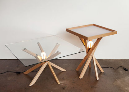 Pende Low + Side Table with Lights