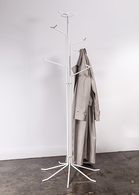 Coat Stand with Burberry Jacket