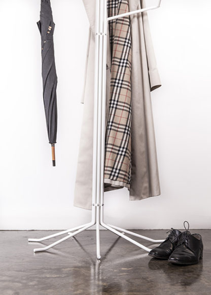 Coat Stand with Burberry Jacket, Umbrella & Shoes