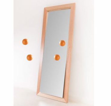 Incline Mirror with Orange Feature