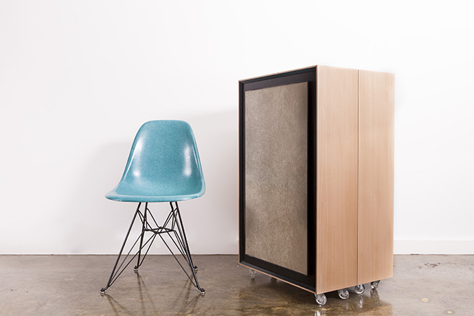 Kamara Trunk with Modernica Eiffel Chair