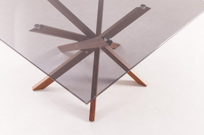 Pende Blackwood Legs + Smoked Glass Low Table