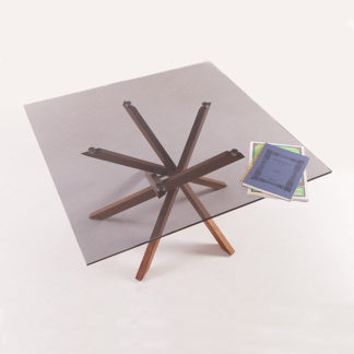 Pende Low Table Blackwood + Smoked Glass Feature