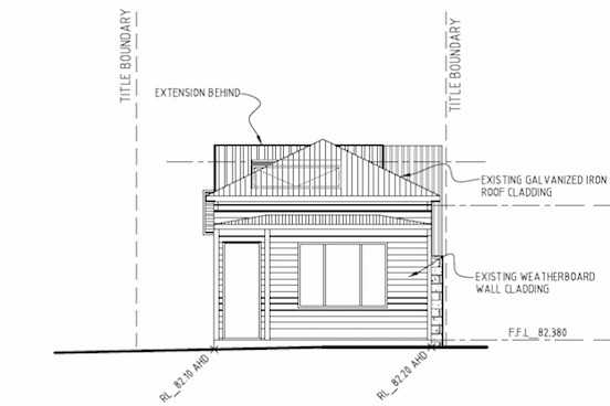 2D South Elevation Drawing