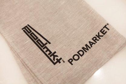PodMarket's natural linen teatowel