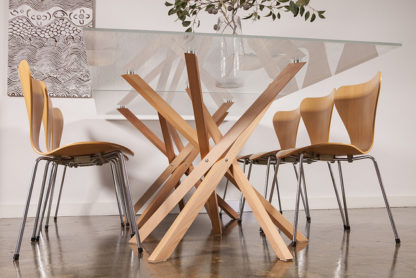 Pende Double Dining Table Underneath