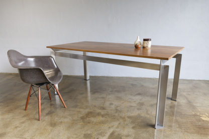 Steel frame table with Armchair