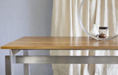 Steel frame table