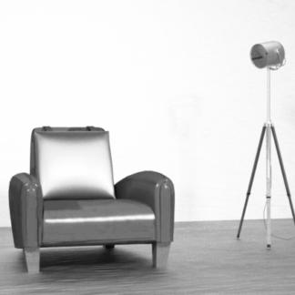 Alto Designer Armchair with Toy Car B+W