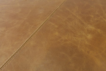 Leather top stitching detail.