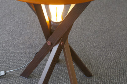 Kangaroo button details on side table legs