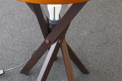 Kangaroo button details on lamp table legs