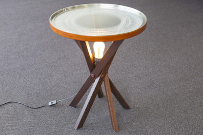 etched top on side table / lamp table