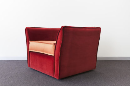 Rafine Armchair, burnt orange velvet.